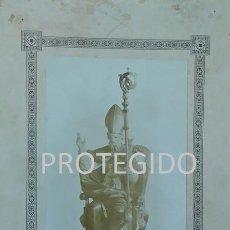 Fotografía antigua: ANTIGUA FOTOGRAFIA DE SAN SATURNINO OBISPO Y MARTIR PATRON DE PAMPLONA ZARAGÜETA. Lote 79573125