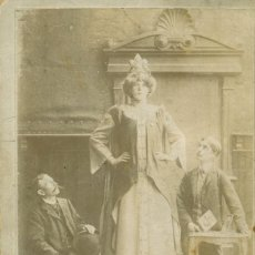 Fotografía antigua: ROSA WEDSTED. LA MUJER MAS ALTA DEL MUNDO. CIRCO BARNUM. HACIA 1890. TIPO CABINET.. Lote 79647061