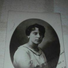 Fotografía antigua: FOTO POSTAL AÑO 1919 DEDICADA - GROLLO VALENCIA -. Lote 79993177