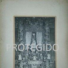 Fotografía antigua: ANTIGUA FOTOGRAFIA DE NUESTRA SEÑORA DE LAGUNAS PATRONA DE CARIÑENA ZARAGOZA. Lote 80318001