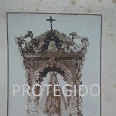 Fotografía antigua: ANTIGUA FOTOGRAFIA DE NUESTRA SEÑORA DE LAS NIEVES PATRONA DE TORROX MALAGA. Lote 80321385