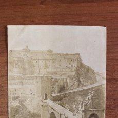 Fotografía antigua: ANTIGUA ALBÚMINA. TOLEDO, PUENTE DE ALCANTARA. ALGUACIL FOT. S. XIX. Lote 80738126