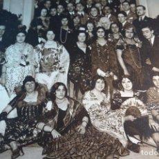 Fotografía antigua: GRAN FOTOGRAFÍA DE FIESTA DE DISFRACES O CARNAVAL - TRAJES CABARET, FLAMENCA, ETC.,ETC... - AÑOS 40 . Lote 80804027
