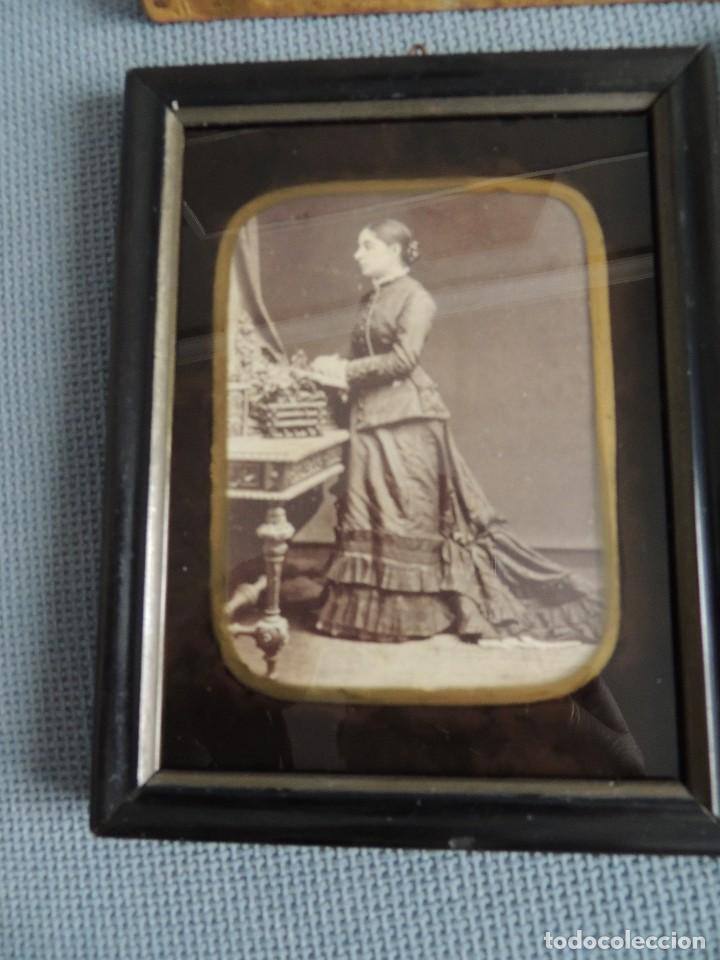 Fotografía antigua: lote 4 fotos 1900 enmarcadas - Foto 2 - 81013924