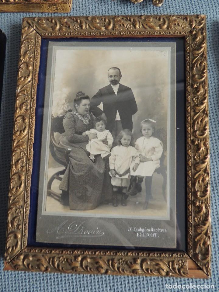 Fotografía antigua: lote 4 fotos 1900 enmarcadas - Foto 3 - 81013924