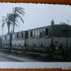 Fotografía antigua: ANTIGUA FOTOGRAFÍA DEL TREN.CENTENARIO.CELEBRACIÓN AÑO 1848-1948.FOTO FERROCARRIL.VAGONES.LOCOMOTORA. Lote 81182008
