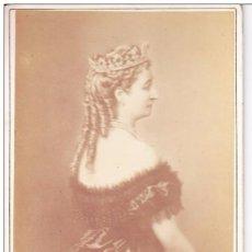 Fotografía antigua: REINA EUGENIA DE MONTIJO EMPERATRIZ DE FRANCIA ESPOSA DEL EMPERADOR NAPOLEON III LE JEUNE LEVITSKY. Lote 81259396