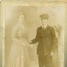 Fotografía antigua: ZARAGOZA. FOTO GRACIA. DOS TIPOS ARAGONESES. HACIA 1910.. Lote 81691184