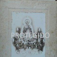 Fotografía antigua: ANTIGUA FOTOGRAFIA DE NUESTRA SEÑORA DE LUNA PATRONA DE ESCACENA HUELVA. Lote 82041356