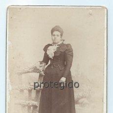 Fotografía antigua: UNA DAMA. TOTANA, MURCIA. FOTÓGRAFO J. RODRIGO. ÁGUILA, 24. LORCA, MURCIA.. Lote 82528268