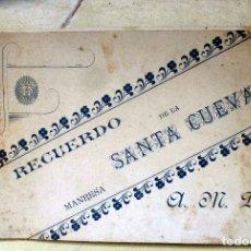Fotografía antigua: RECUERDO DE LA SANTA CUEVA MANRESA BLOCK DE 5 FOTOGRAFIAS ALBUMINA. Lote 82730036