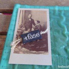 Fotografía antigua: FOTO FOTOGRAFIA ALBUMINA NAPOLEON III EUGENIA MONTIJO Y SU HIJO EUGENIO LUIS NAPOLEON IV DISDERI. Lote 83313416
