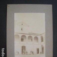 Fotografía antigua: TIANA - PATIO DE LA CONRERIA - FOTO ORIGINAL ALBUMINA -VER FOTOS (V-10.634). Lote 83935708