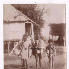 Fotografía antigua: FILIPINAS, SIGLO XIX, TIPOS INDÍGENAS, FOTOGRAFÍA COLÓN, LAUREANO, BARCELONA. 16X22CM.. Lote 83966252