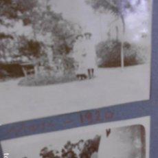 Fotografía antigua: ALBUM CON FOTOGRAFIAS ESPAÑOLAS DE 1918 A AÑOS 40: ALBUMINAS CARRUAJE , BICICLETA,. Lote 84634172