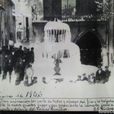 Fotografía antigua: COPIA ANTIGUA FOTO GRAN NEVADA DELANTE CASINO PRIMITIVO IBI AÑO 1926 30*20 CM. Lote 85257700