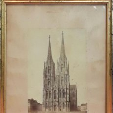 Fotografía antigua: CATEDRAL DE COLONIA. FOTOGRAFÍA. ALBÚMINA. ALEMANIA (?) SIGLO XIX-XX. Lote 86203292