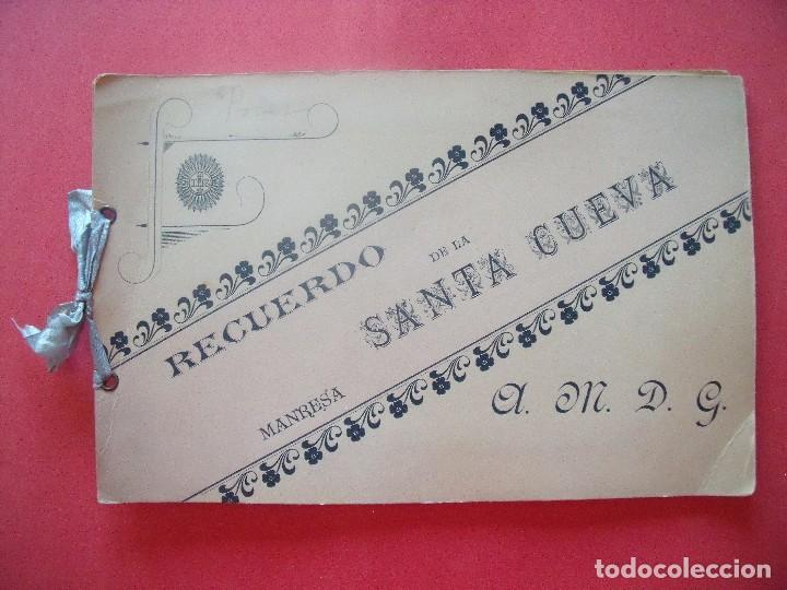 MONTSERRAT.-RECUERDO DE LA SANTA CUEVA.-MANRESA.-A.M.D.G.-ALBUMINAS.-1880-1900. (Fotografía Antigua - Albúmina)