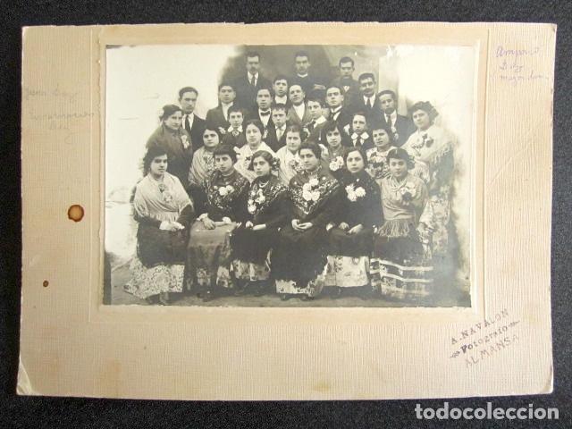 AÑO 1916. ANTIGUA FOTOGRAFÍA ALBÚMINA. FIESTAS DE ALMANSA, ALBACETE. FOTÓGRAFO A. NAVALÓN. (Fotografía Antigua - Albúmina)