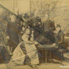 Alte Fotografie - REINA ISABEL II DE ESPAÑA. INFANTA EULALIA. CONDES DE PARIS. 1877. TAMAÑO MUY GRANDE. PIEZA ÚNICA. - 89210904
