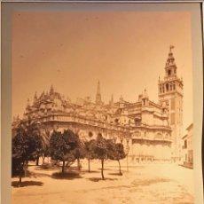 Fotografía antigua - SEVILLA. ALBUMINA. CATEDRAL, VISTA GENERAL, Nº 526. FOT. RAMON ALMELA. FINALES XIX - 89779572