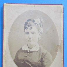 Fotografía antigua: .FOTOGRAFIA DE UNA CHICA. FOT. J. OSES, MÁLAGA. 13,5 X 10 CM. SOPORTE, 16,5 X 11 CM.. Lote 89837768