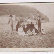 Fotografía antigua: PLAYA DE CALDETAS PROBABLEMENTE, 1900'S. FOTOGRAFÍA 9X12 CM.. Lote 90369464