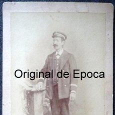 Fotografía antigua: (JX-170622) FOTOGRAFÍA DE FUNCIONARIO , CONDUCTOR , CORREOS , TELÉGRAFOS ?, REALIZADA EN BADAJOZ. Lote 90421989
