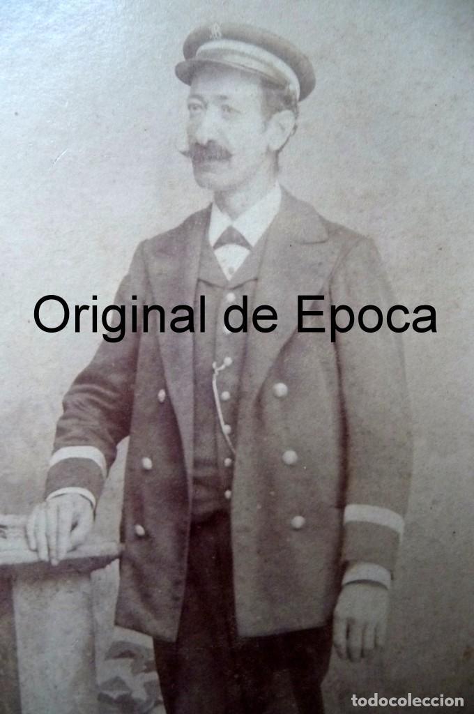 Fotografía antigua: (JX-170622) Fotografía de funcionario , conductor , correos , telégrafos ?, realizada en Badajoz - Foto 2 - 90421989