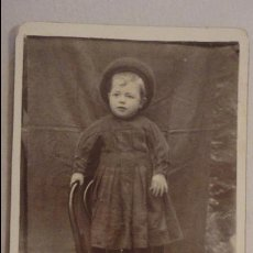 Fotografía antigua: ANTIGUA FOTOGRAFIA DE NIÑO.IGNACIO MARTIN HERNANDEZ.1898. Lote 90587490