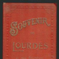 Fotografía antigua: SOUVENIR DE LOURDES.CONJUNTO DE 12 FOTOGRAFIAS CON SOPORTE DE CARTÓN.FINALES SIGLO XIX.. Lote 91241680