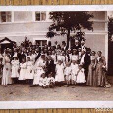 Fotografía antigua: FOTO BODA. 12 X 9 SOPORTE CARTÓN. Lote 91305190