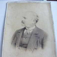 Fotografía antigua: FOTO DE ESTUDIO DE UN SEÑOR DEL SIGLO XIX . DE DUARTE , AVILES . 17 X 25 CM. Lote 91387855