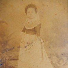 Fotografía antigua: FOTOGRAFÍA MUY ANTIGUA, NIÑA CON TRAJE MALLORQUÍN. MALLORCA. BALEARES.. Lote 91980200