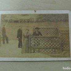 Fotografía antigua: FOTO ALBUMINA, BAÑOS DE ARCHENA PASO DE LA BARCA SOBRE RIO SEGURA , MURCIA . Lote 92849795