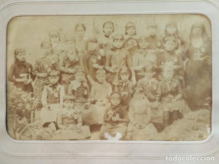 1888 COLEGIO SAGRADO CORAZON DE JESUS REUS TARRAGONA FOTOGRAFO J. DAVID DE PARIS (Fotografía Antigua - Albúmina)