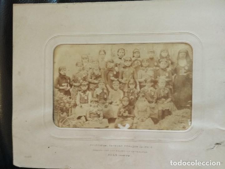 Fotografía antigua: 1888 COLEGIO SAGRADO CORAZON DE JESUS REUS TARRAGONA FOTOGRAFO J. DAVID DE PARIS - Foto 2 - 93232615