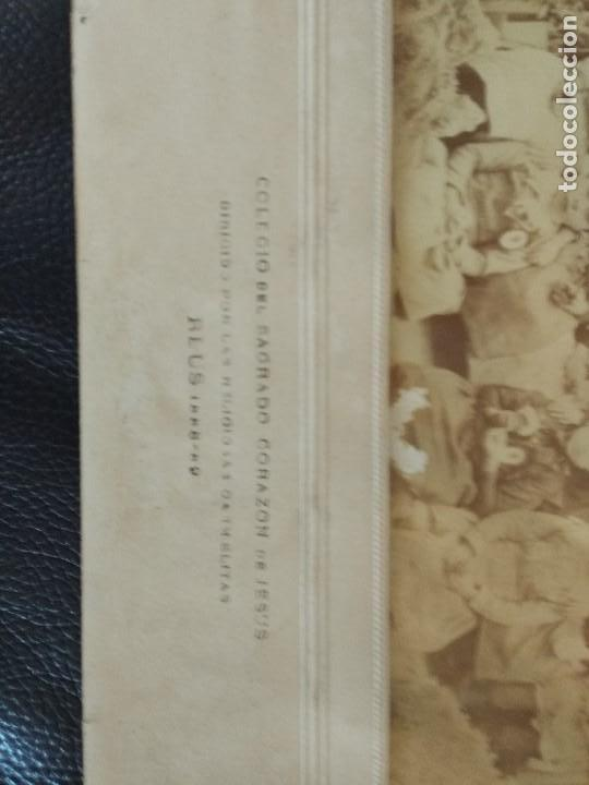 Fotografía antigua: 1888 COLEGIO SAGRADO CORAZON DE JESUS REUS TARRAGONA FOTOGRAFO J. DAVID DE PARIS - Foto 3 - 93232615