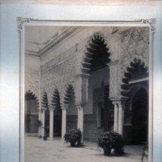 Fotografía antigua: Nº323 SEVILLA ALCAZAR PATIO DE LAS DONCELLAS J.E PUIG ESCUDILLERS 89 BARNA.ORIGINALES S XIX. Lote 93879305