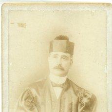 Fotografía antigua: PUERTO RICO. JUAN HERNANDEZ LOPEZ.ABOGADO.POLITICO. PRESIDENTE SENADO. HACIA 1890. CABINET. MUY RARA. Lote 94405562