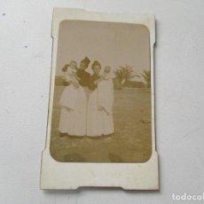 Fotografía antigua: ANTIGUA FOTOGRAFÍA- 10 X 6 CM.-SEÑORES CON BEBÉS.-SIN MÁS DATOS- . Lote 96024455