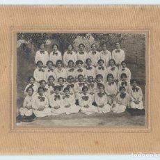 Fotografía antigua: 34 NIÑAS. COLEGIO FEMENINO. MULA, MURCIA. FOTÓGRAFO DESCONOCIDO. MULA, MURCIA. AÑO 1927.. Lote 96026435