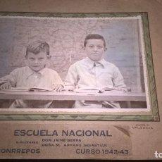 Fotografía antigua: BONRREPOS (VALENCIA) FOTO DE ESCUELA. Lote 96548803