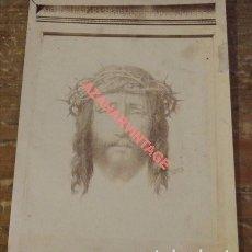 Fotografía antigua: ESPECTACULAR ALBUMINA DE LA SANTA FAZ, SIGLO XIX.82X108MM. Lote 96577403