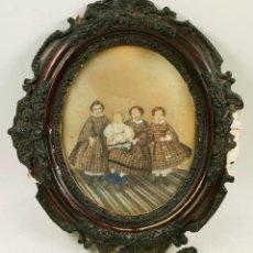 Fotografía antigua: RETRATO ISABELINO DE GRUPO DE NIÑOS, 1856-65 APROX. PRECINTADO DE ORIGEN, PROCEDENCIA: BARCELONA. Lote 97148259