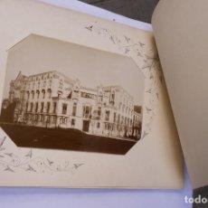 Fotografía antigua: BARCELONA, COLEGIO SAGRADO CORAZÓN, CALLE BAILÉN, 60. ÁLBUM CON 7 FOTOGRAFÍAS 1880 APROX.. Lote 97703355