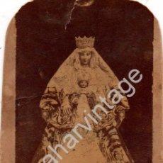 Fotografía antigua: SEVILLA, SIGLO XIX, ALBUMINA DE LA VIRGEN DE LOS REYES, 65X108MM. Lote 98160087