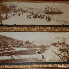 Fotografía antigua: NIZA, FIN XIX, PP XX, DOS FOTOGRAFIAS PANORAMICAS ENMARCADAS,60X25. Lote 98506119