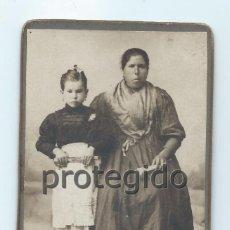 Fotografía antigua: MADRE E HIJA, MURCIANAS. CENTRO FOTOGRÁFICO VILLAR. MURCIA.. Lote 99299259