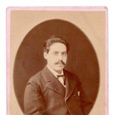 Fotografía antigua: FOTOGRAFÍA S.XIX, ESTUDIO FOTOGRÁFICO G.PEREZ FONT SANTIAGO. DETRÁS NOMBRES. Lote 99313691